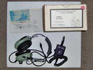 David Clarck headset with boom mike and adaptor (ICOM Setup)